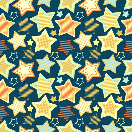 seamless pattern with stars Illustration