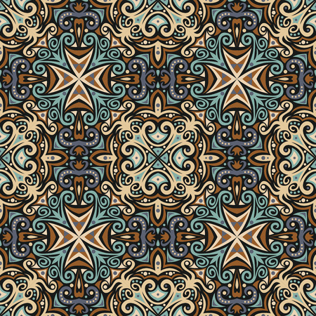persian: seamless pattern: detailed vector persian ornament Illustration