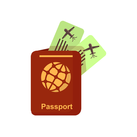 Passport icon vector isolated on white background for your web and mobile app design, Passport logo concept