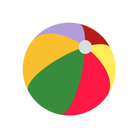 Beach ball icon vector isolated on white background for your web and mobile app design, Beach ball logo concept