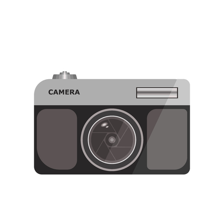 Photo camera icon vector isolated on white background for your web and mobile app design, Photo camera logo concept