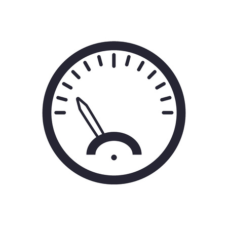 Speedometer icon vector isolated on white background for your web and mobile app design, Speedometer logo concept Illustration