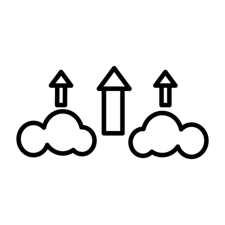 Cloud upload icon vector isolated on white background for your web and mobile app design, Cloud upload logo concept Illustration