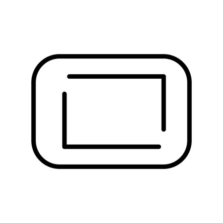 Rounded Corners square icon vector isolated on white background for your web and mobile app design, Rounded Corners square logo concept