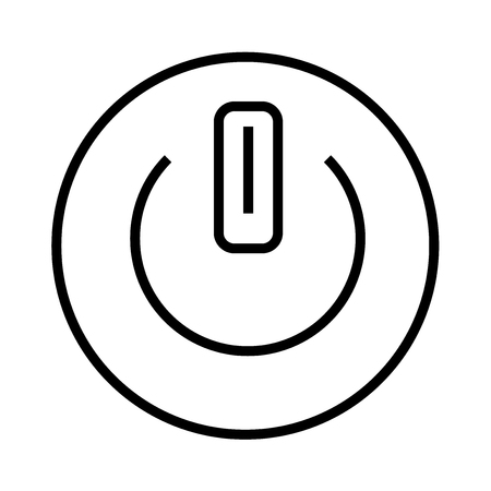 Button on off icon vector isolated on white background for your web and mobile app design, Button on off logo concept