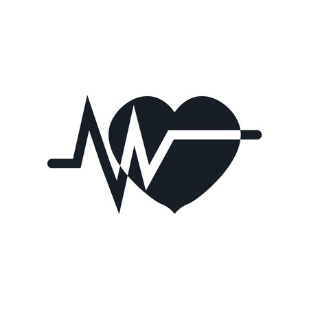 Electrocardiogram icon vector isolated on white background for your web and mobile app design, Electrocardiogram logo concept