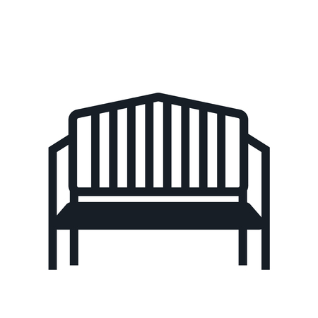 Bench icon vector isolated on white background for your web and mobile app design, Bench logo concept Çizim