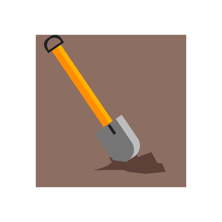 Shovel icon vector isolated on white background for your web and mobile app design, Shovel logo concept