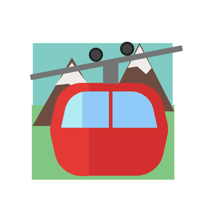 Cable car icon vector isolated on white background for your web and mobile app design, Cable car logo concept 일러스트