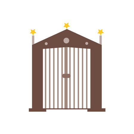 Gate icon vector isolated on white background for your web and mobile app design, Gate logo concept