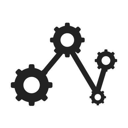 Diagram icon vector isolated on white background for your web and mobile app design, Diagram logo concept
