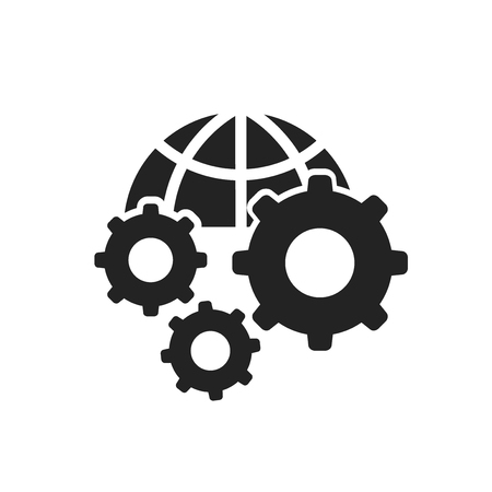 Settings icon vector isolated on white background for your web and mobile app design, Settings logo concept Illustration