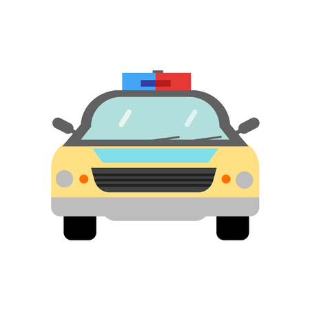 Police car icon vector isolated on white background for your web and mobile app design, Police car logo concept