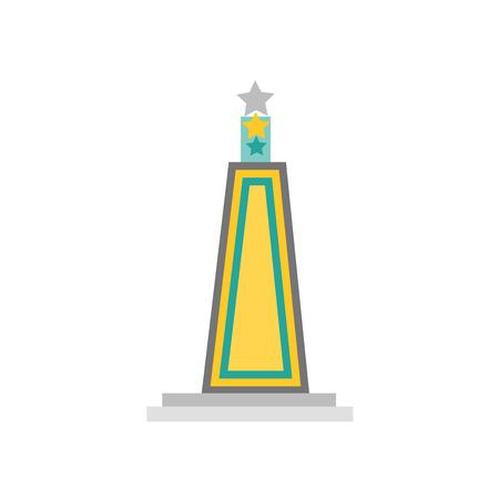 Obelisk icon vector isolated on white background for your web and mobile app design, Obelisk logo concept Иллюстрация