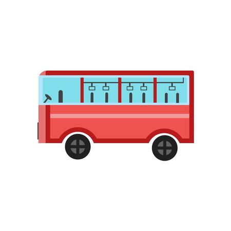 Vecteur d'icône de bus isolé sur fond blanc pour la conception de votre application web et mobile, concept de logo de bus