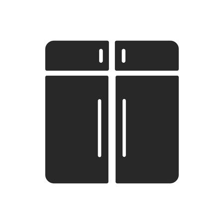 Vecteur d'icône d'armoire isolé sur fond blanc pour la conception de votre application web et mobile, concept de logo d'armoire