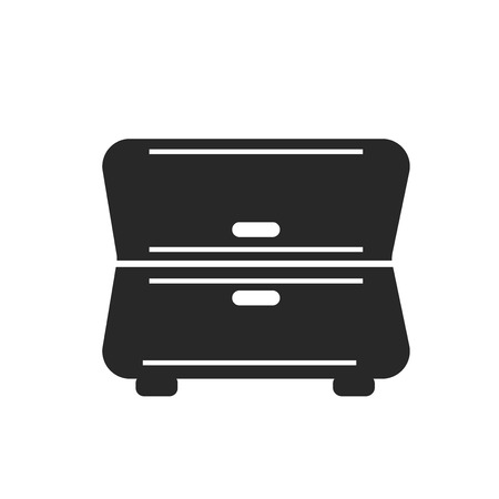 Cabinet icon vector isolated on white background for your web and mobile app design, Cabinet logo concept