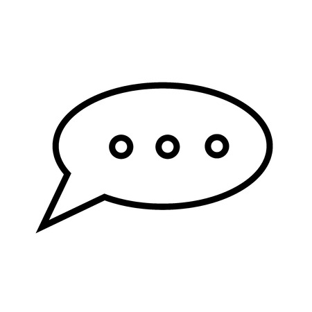 Speech bubble black icon vector isolated on white background for your web and mobile app design, Speech bubble black logo concept