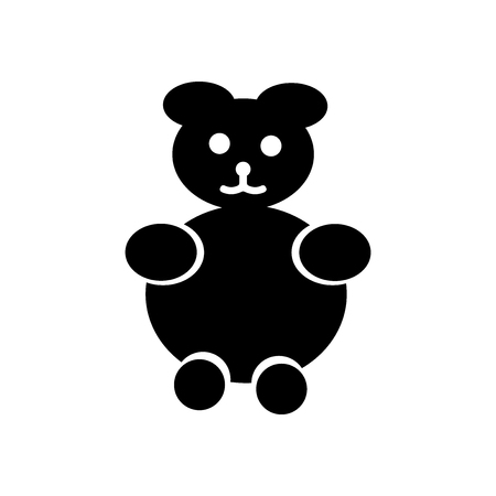 Teddy bear icon vector isolated on white background for your web and mobile app design, Teddy bear logo concept Illustration