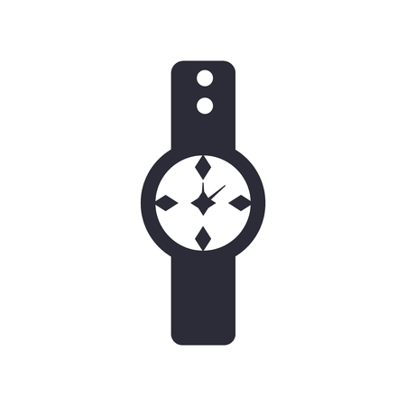 Watch icon vector isolated on white background for your web and mobile app design, Watch logo concept Illustration