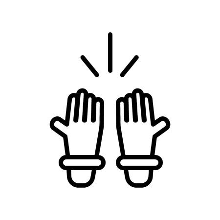 Islamic Prayer icon vector isolated on white background, Islamic Prayer transparent sign Illustration