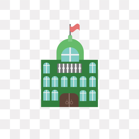 City hall vector icon isolated on transparent background, City hall logo concept 일러스트