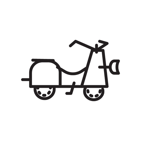 Scooter icon vector isolated on white background, Scooter transparent sign , linear symbol and stroke design elements in outline style