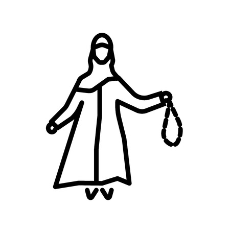 Arabian Woman icon vector isolated on white background, Arabian Woman transparent sign