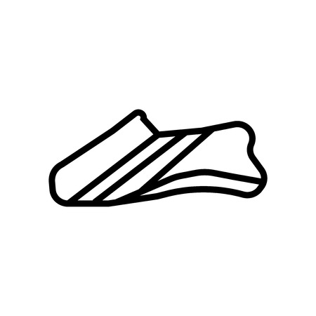 Shoes icon vector isolated on white background, Shoes transparent sign , linear symbol and stroke design elements in outline style Illusztráció
