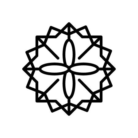 Islamic Art icon vector isolated on white background, Islamic Art transparent sign Vektorové ilustrace