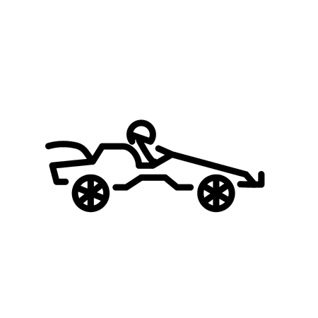 Go kart icon vector isolated on white background, Go kart transparent sign , linear symbol and stroke design elements in outline style