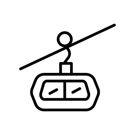 Cable car cabin icon vector isolated on white background, Cable car cabin transparent sign , linear symbol and stroke design elements in outline style 일러스트