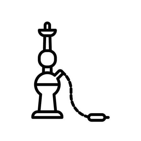 Hookah icon vector isolated on white background, Hookah transparent sign Vectores