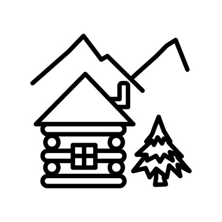Cabin icon vector isolated on white background, Cabin transparent sign , linear symbol and stroke design elements in outline style