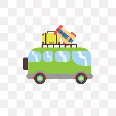 Minivan vector icon isolated on transparent background, Minivan logo concept