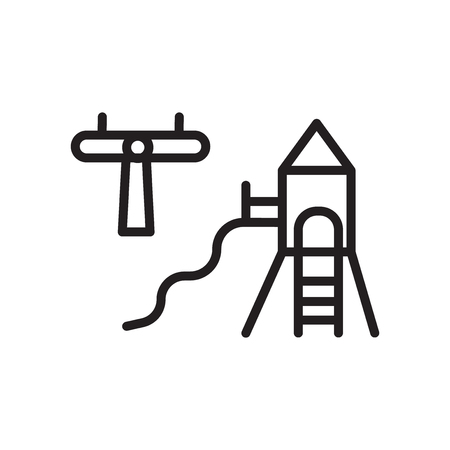 Playground icon vector isolated on white background, Playground transparent sign , linear symbol and stroke design elements in outline style