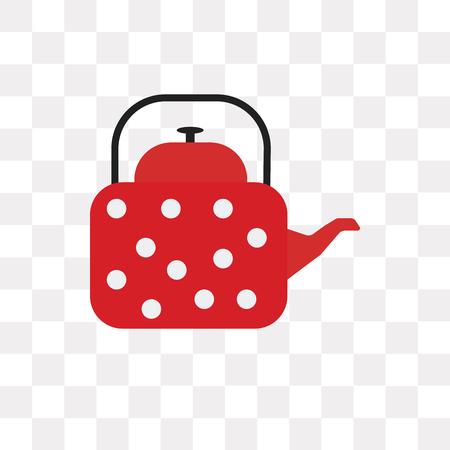 Icône de vecteur de bouilloire isolé sur fond transparent, concept logo bouilloire