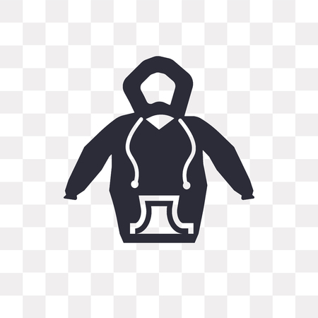 Hoodie vector icon isolated on transparent background, Hoodie logo concept