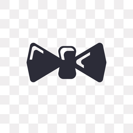 Bow tie vector icon isolated on transparent background, Bow tie logo concept