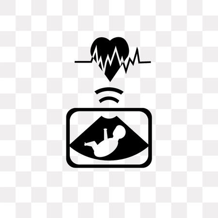 Icône de vecteur d'échographie isolé sur fond transparent, concept logo échographie Logo