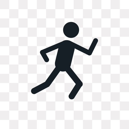 Running vector icon isolated on transparent background, Running logo concept