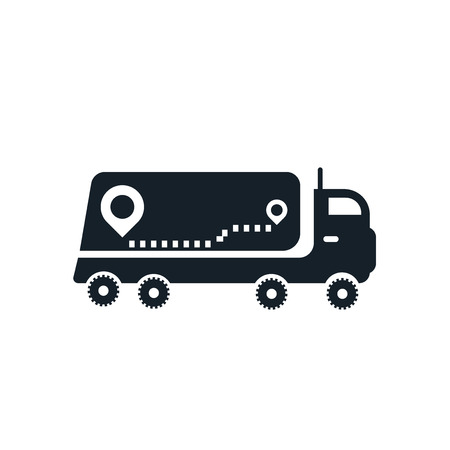Truck icon vector isolated on white background, Truck transparent sign