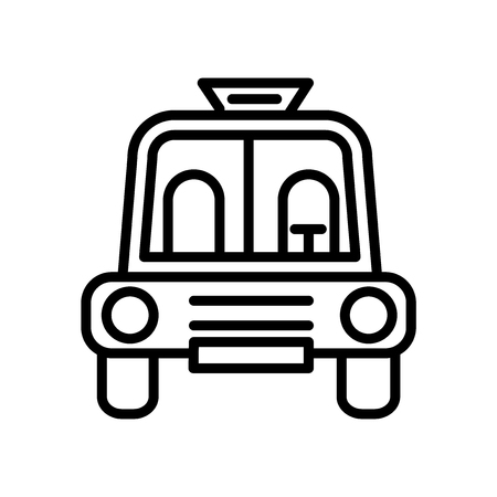 School Bus Empty icon vector isolated on white background, School Bus Empty transparent sign , linear symbol and stroke design elements in outline style