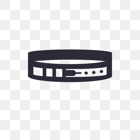 Belt vector icon isolated on transparent background, Belt logo concept