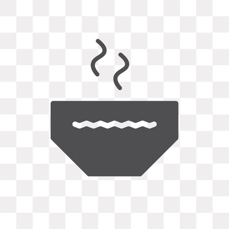 Bowl vector icon isolated on transparent background, Bowl logo concept