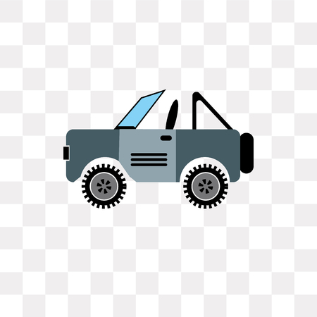 Jeep vector icon isolated on transparent background, Jeep logo concept