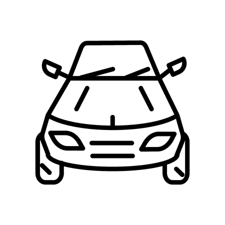 Drift car icon vector isolated on white background, Drift car transparent sign , linear symbol and stroke design elements in outline style  イラスト・ベクター素材