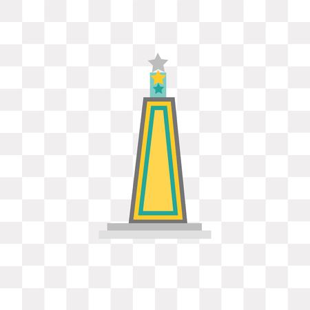 Obelisk vector icon isolated on transparent background, Obelisk logo concept