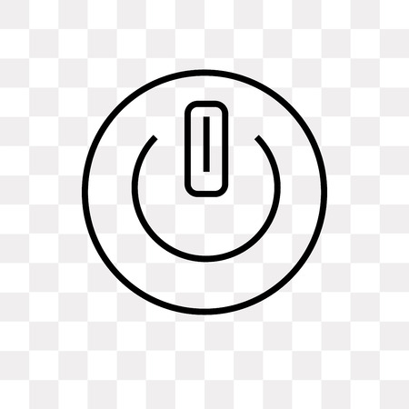 Button on off vector icon isolated on transparent background, Button on off logo concept 向量圖像