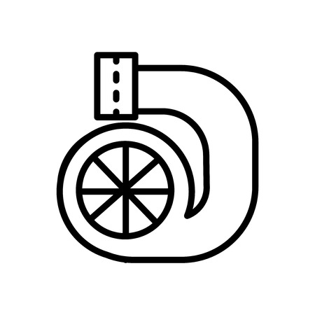 Turbo icon vector isolated on white background, Turbo transparent sign , linear symbol and stroke design elements in outline style